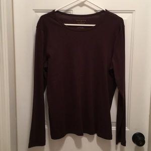 New Preswick & Moore Brown Long Sleeve T-Shirt
